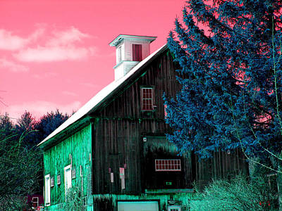 Maine Barn Art Print by Marie Jamieson