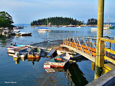 Pier Digital Art - Maine Docks by Stephen Younts