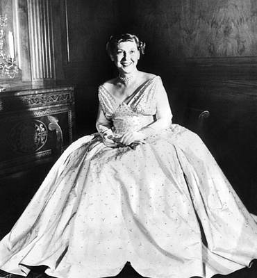Inaugural Gown Photograph - Maine Eisenhower Models The Gown by Everett