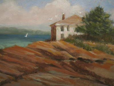 Maine Seacoast Painting - Maine Remembered by Margaret Hodgson