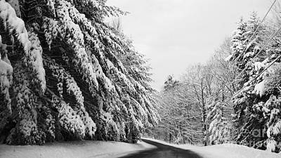 Photograph - Maine Winter Backroad by Christy Bruna