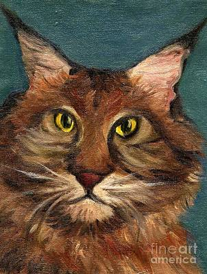 Mainecoon The Cat Art Print by Kostas Koutsoukanidis
