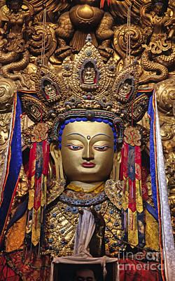 Photograph - Maitreya Statue - Jokhang Temple Tibet by Craig Lovell