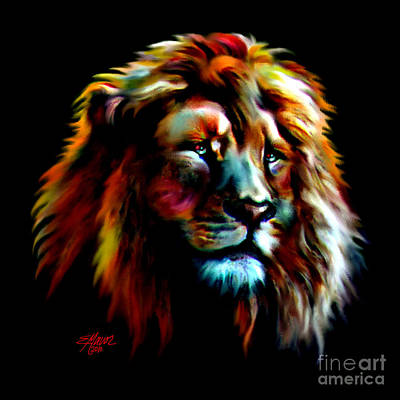 Majestic Lion Art Print by Elinor Mavor