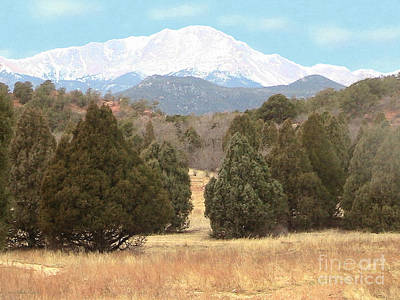 Photograph - Majestic Pike's Peak by Cristophers Dream Artistry