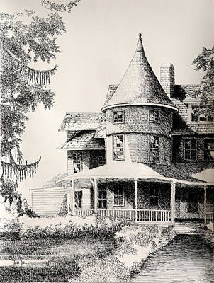 Majestic Place In Kensington Maryland Print by Toni Tiu