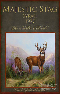 Painting - Majestic Stag by Stella Violano