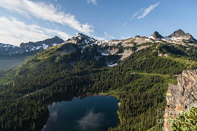 Lake Louise Photograph - Majestic Tatoosh Range by Mike Reid