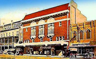 Painting - Majestic Theatre In Austin Tx 1910 by Dwight Goss