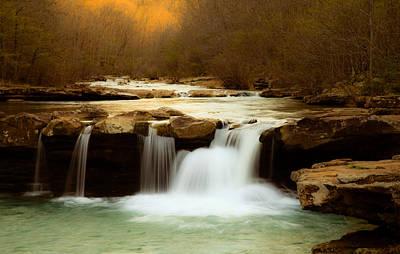 Majestic Waterfalls Print by Iris Greenwell