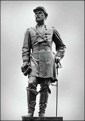 Major General John Reynolds Statue At Gettysburg Art Print by Randy Steele