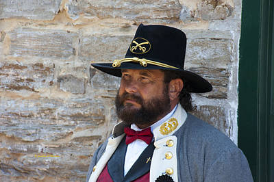 Mosby Photograph - Major General Lunsford L.lomax Portrayed By Dan L. Carr 150th Anniversary Of The American Civil War  by Jonathan Whichard