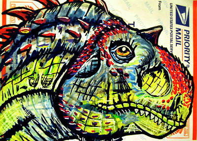 Painting - Majungatholus by Josean Rivera