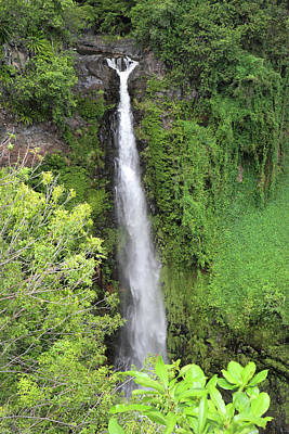 Photograph - Makahiku Waterfall by Pierre Leclerc Photography