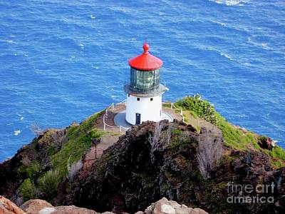 Makapupu Lighthouse Art Print by Iliana Finney