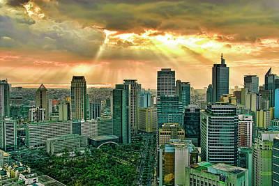 Makati City Skyline Art Print