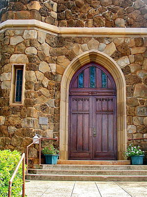 Photograph - Makawao Union Church Doors by Karon Melillo DeVega