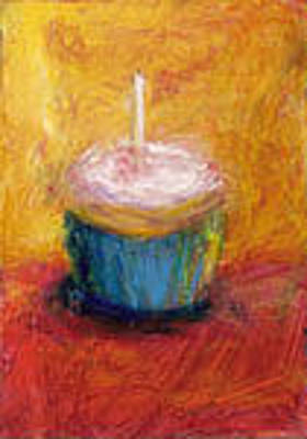 Cupcake Painting - Make A Wish by Jeannine Luke