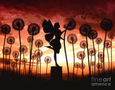 Dandelion Digital Art - Make A Wish by Julie Fain