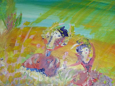 Make Hay While The Sunshines Art Print by Judith Desrosiers
