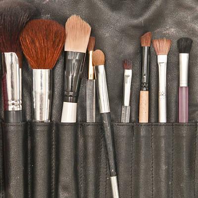 Make Up Brushes Art Print by Tom Gowanlock
