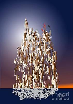 Art Print featuring the digital art Makebelieve World 2 by Leo Symon