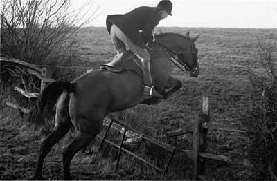 English Fox Hunting Photograph - Making The Jump by John Chillingworth