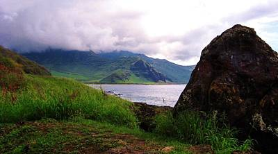 Makua Seen From Yokohama Beach Art Print by Craig Wood