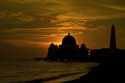 Malacca Straits Mosque Art Print by Ng Hock How