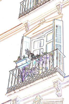 Photograph - Malaga Spain Balcony by Allan Rothman