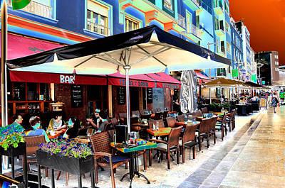 Photograph - Malaga Spain Cafe 2 by Allan Rothman