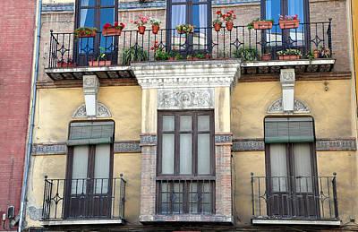 Photograph - Malaga Spain Facade by Allan Rothman