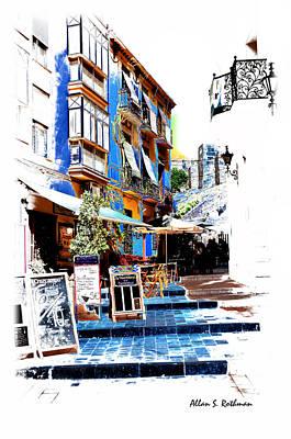 Photograph - Malaga Spain Sidewalk Art by Allan Rothman