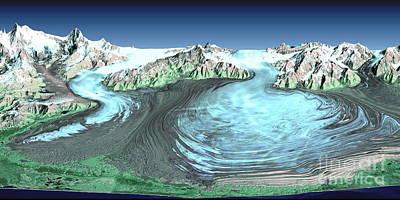 Malaspina Glacier, Alaska Art Print by Nasa