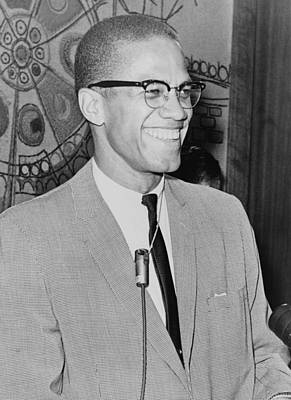 Malcolm X 1925-1965 Speaking In 1964 Art Print by Everett