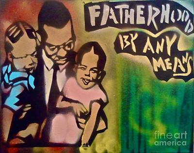Liberal Painting - Malcolm X Fatherhood 1 by Tony B Conscious