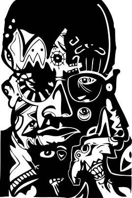 Blackart Digital Art - Malcolm X by Kamoni Khem