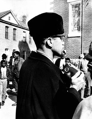 Malcolm X Visits The Voting Rights Art Print