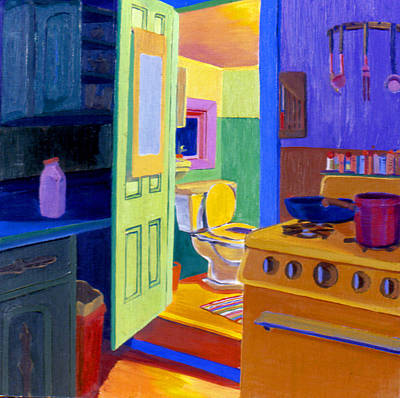 Painting - Malden Bathroom 1977 by Nancy Griswold