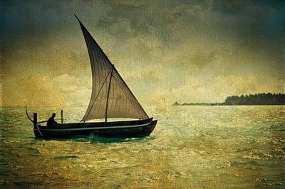 Maldivian Poetry. Dhoni Boat Art Print by Jenny Rainbow