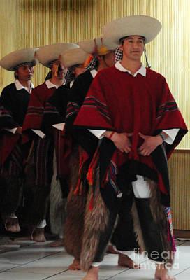Male Ecuadorian Dancers Print by Al Bourassa