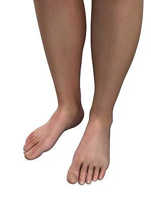 Human Joint Digital Art - Male Feet, Artwork by Sciepro