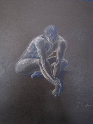 Male Figure In Contemplation Art Print