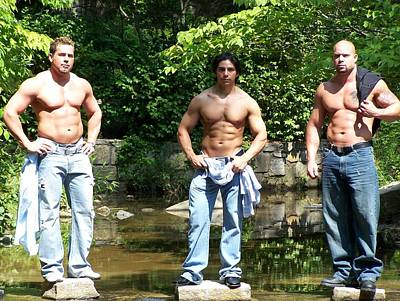 Muscle Photograph - Male Muscle Trio by Jake Hartz