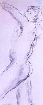 Painting - Male Nude 4229 by Elizabeth Parashis