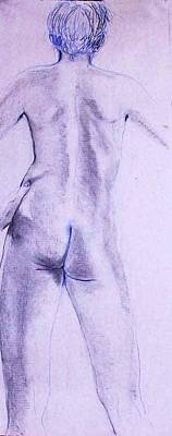 Painting - Male Nude 4234 by Elizabeth Parashis