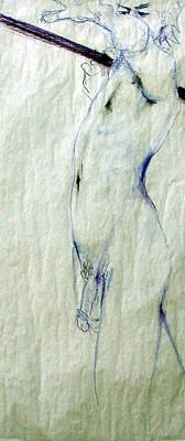 Male Nude 4763 Art Print by Elizabeth Parashis