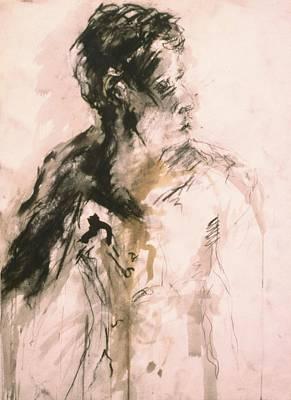 Male Portrait 3 Art Print by Iris Gill