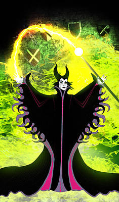 Maleficent Digital Art - Maleficent by Russell Clenney