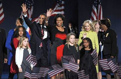 Obama Family Photograph - Malia Obama, U.s. President Elect by Everett
